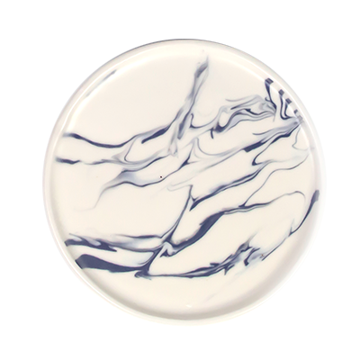 Navy Marbled Porcelain Plates