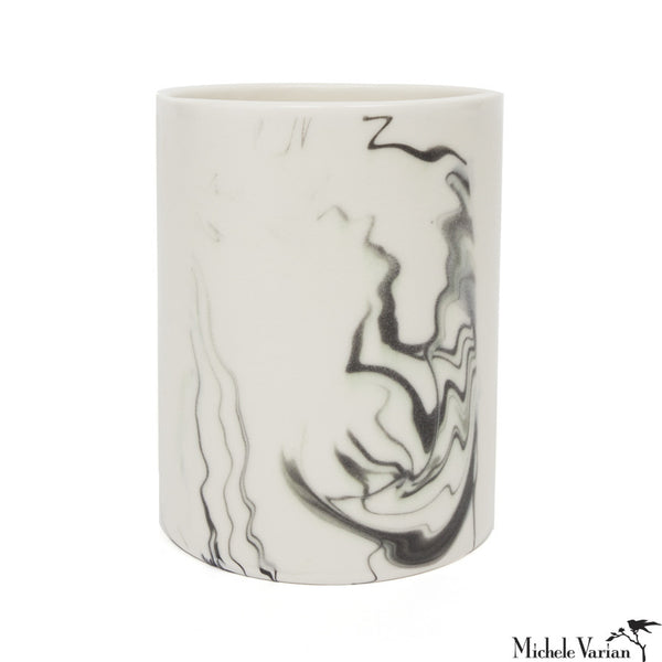 Short Marbled Porcelain Vase