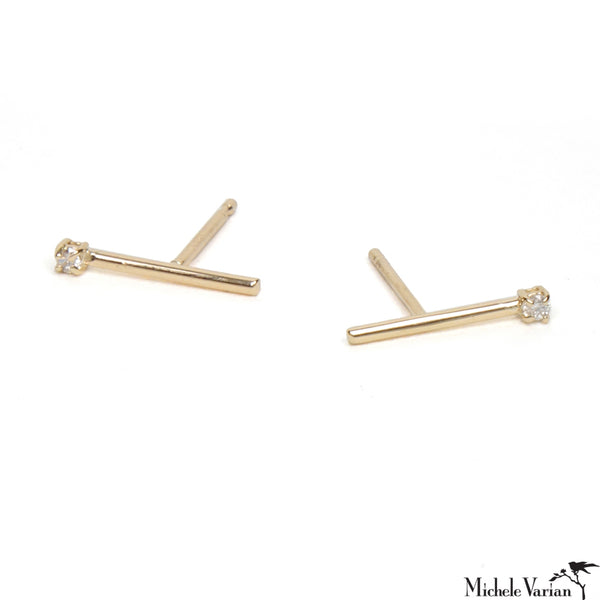 Matchstick Earring White Diamond
