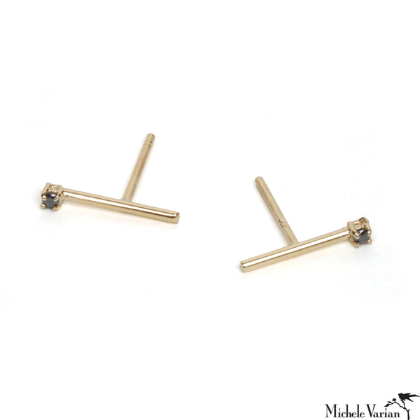 Matchstick Earring Black Diamond