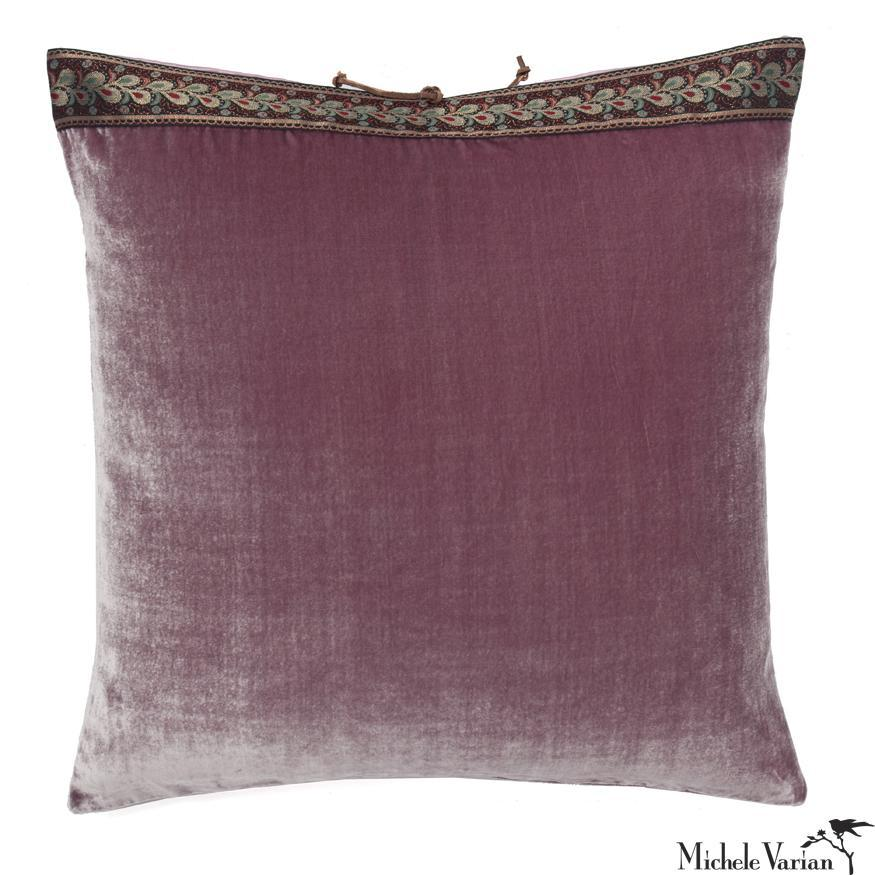 Silk Velvet Pillow Mauve Mist 20x20