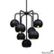Black Septetable Bubble Pendant Light