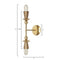Brass Double Polyform Sconce Light