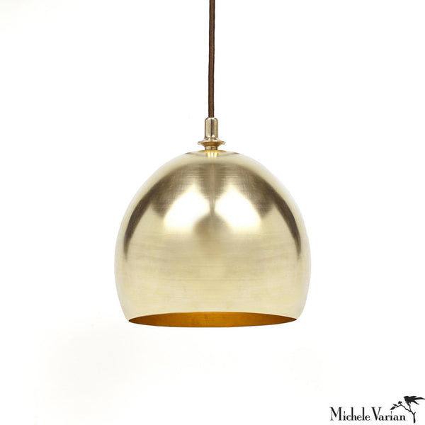 Brass Finial Dome Pendant Lamp