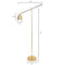 Brass Cone Axis Floor Lamp