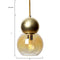 Brass Double Bubble Pendant Light Fixture 5 inch