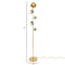 Nickel Five Blossom Floor Lamp