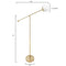 Brass And Globe Axis Floor Lamp