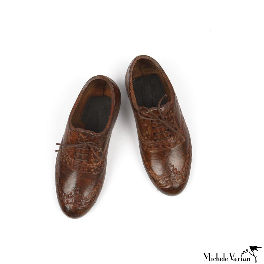 Pair of Miniature Wingtip Shoes Oxfords
