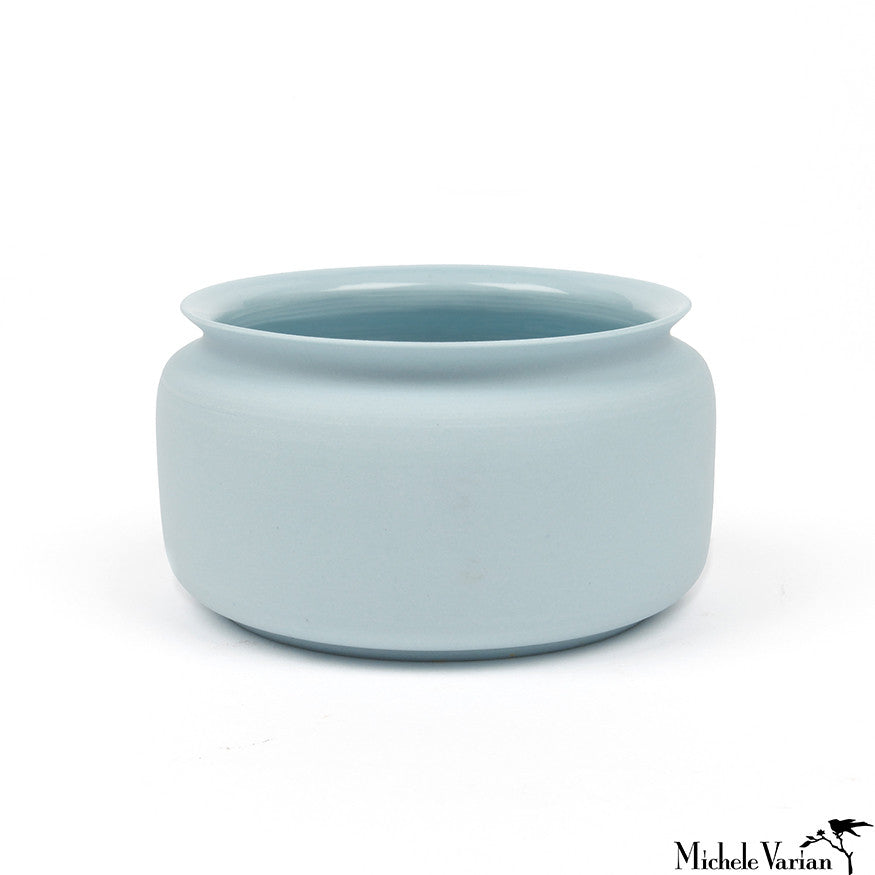 Mini Porcelain Vase Blue Bowl