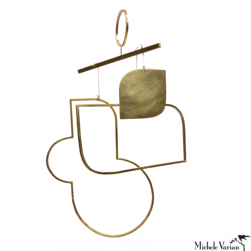 Deco Brass and Ceramic Wall Hanging 10