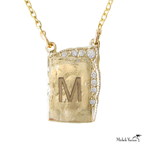 Reflection Monogram Necklace