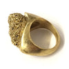 Brass and Black Diamond Moss Rock Ring