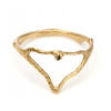 Gold Mountain Ring with Diamond