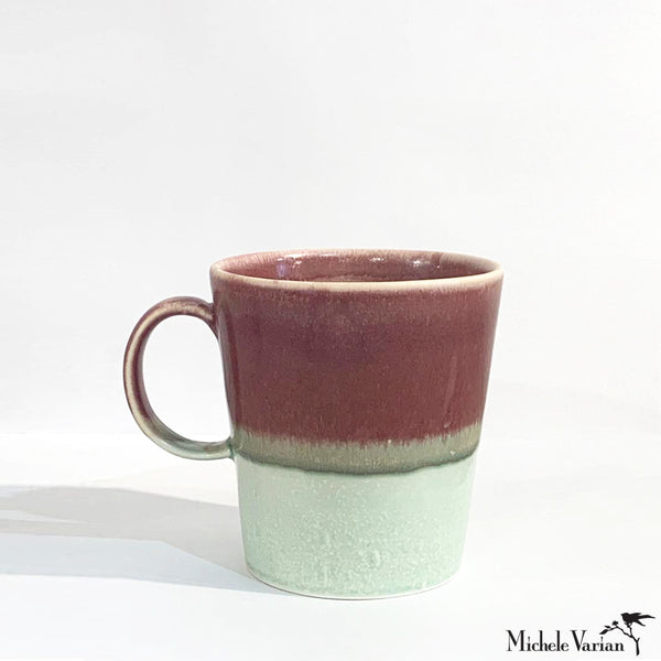 Multi Colored Mug Rouge and Sage