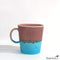 Multi Colored Mug Rouge and Teal