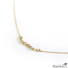Five Diamond Bar Necklace