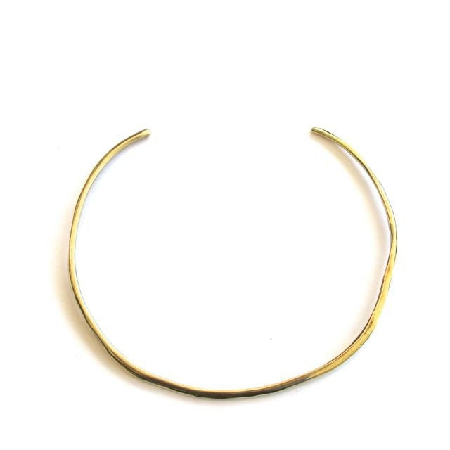 Brass Simple Collar Necklace