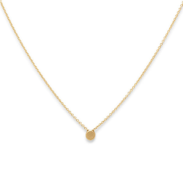 Tiny Ity Gold Circle Necklace
