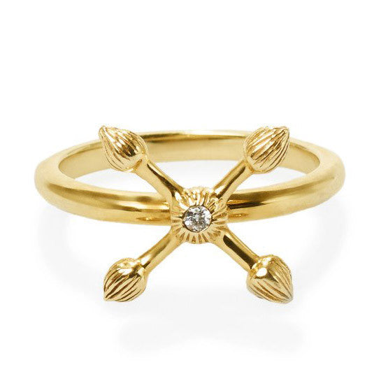 Gold Cross Natura Ring