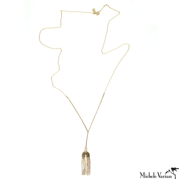 Necklace Dune Arc Tassel Long