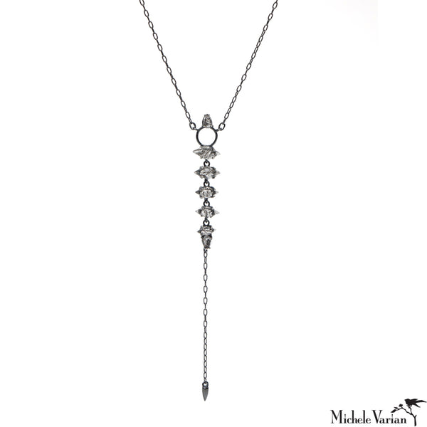 Jagged Stone Silver Spike Necklace