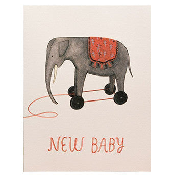 Happy New Baby Elephant Card