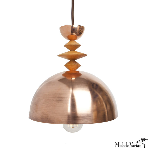 Mala Pendant Light No. 2 in Brass or Copper