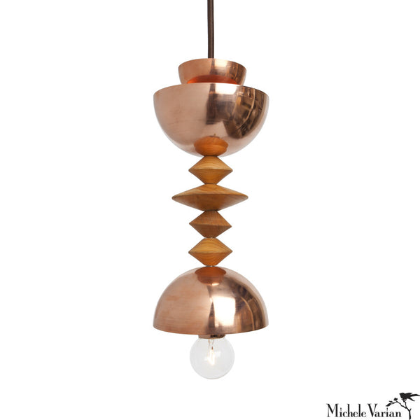 Mala Pendant Light No. 3 in Brass or Copper