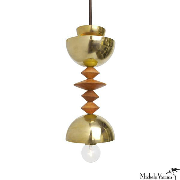 Mala Pendant Light No. 3 in Brass