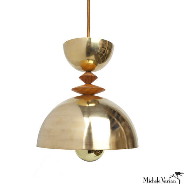 Mala Pendant Light No. 4 in Brass