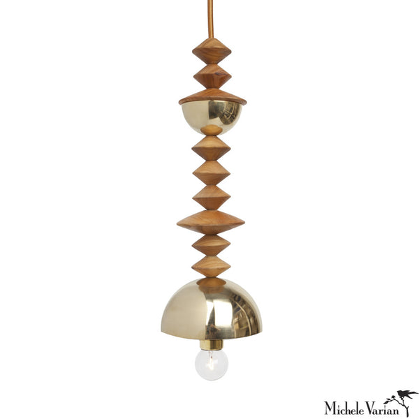 Mala Pendant Light No. 5 in Brass or Copper