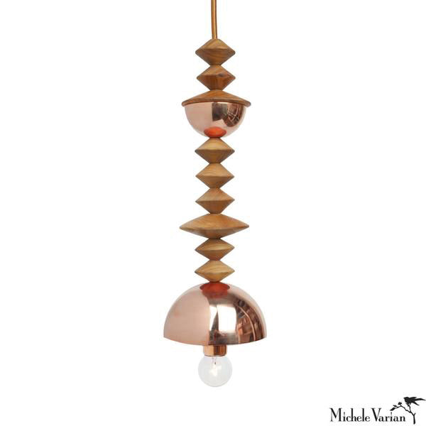 Mala Pendant Light No. 5 in Copper