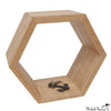 Hexagonal Wood Wall Shelf