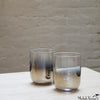 Ombre Glass Tumbler - Platinum Set of 6