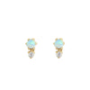 Opal Duo Stud Earrings