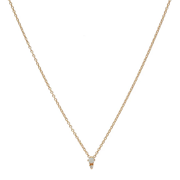 Opal and Diamond Duo Necklace