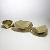 Brass Origami Bowl Large Gold