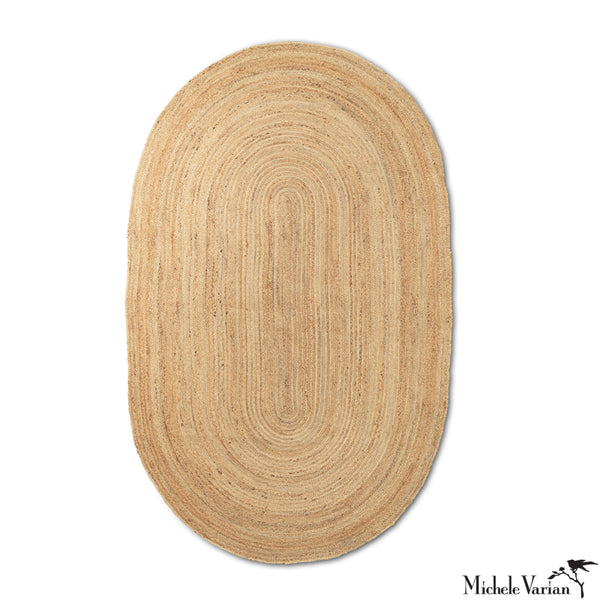 Eternal Oval Jute Rug Natural