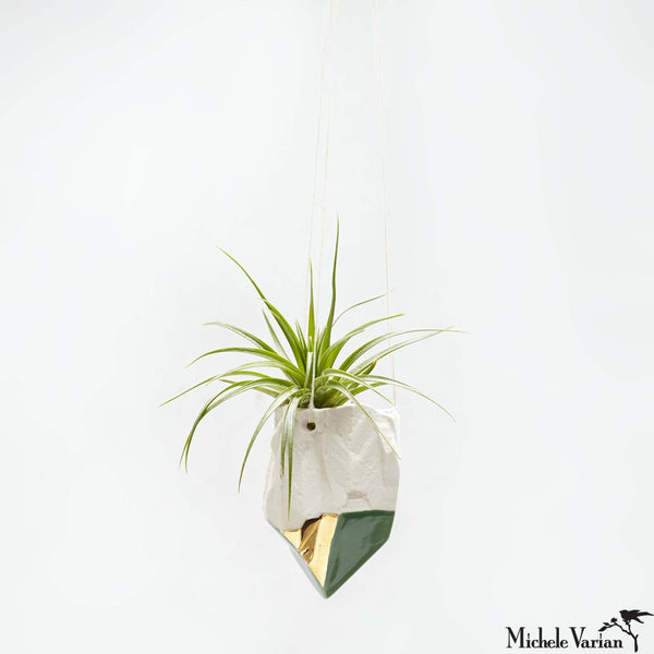 Porcelain Crystal Hanging Planter