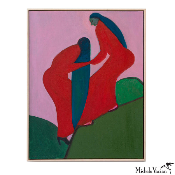 Two Red Women Painting