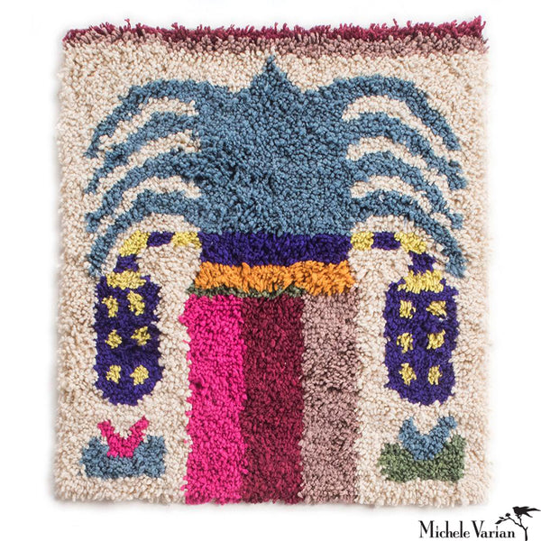 Canopy Palm Rug Blue