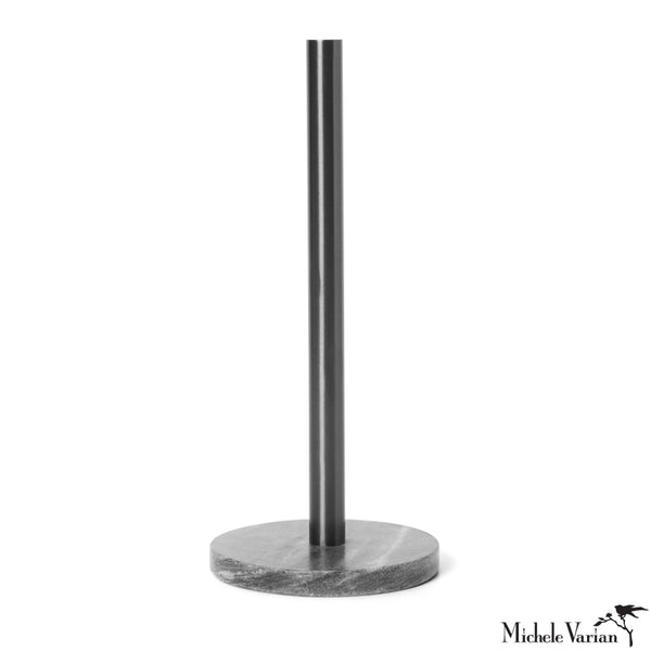 Marble Paper Towel Holder Black
