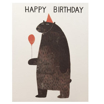 Happy Birthday Party Bear Card