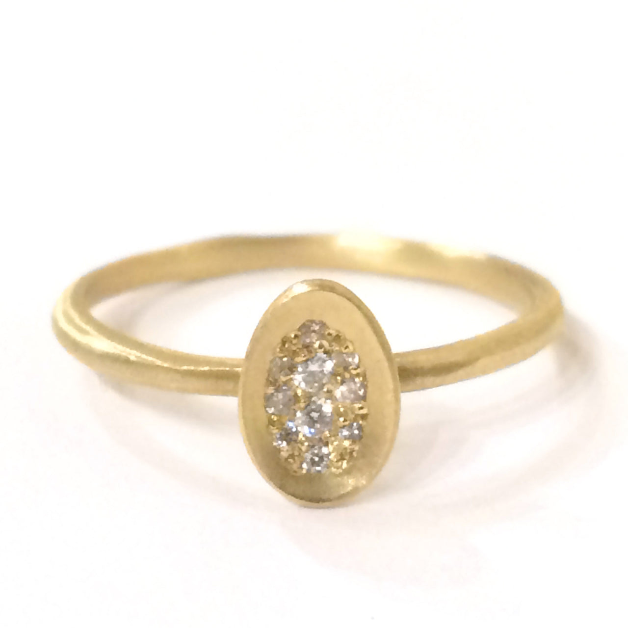 Pave Diamond Egg Ring