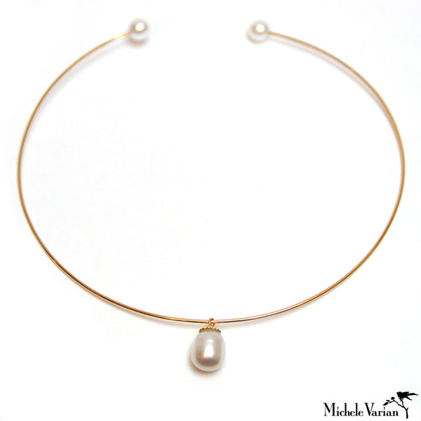 Akoya Pearl Cuff Necklace