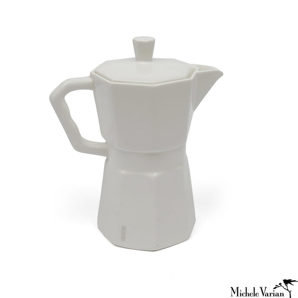 White Porcelain Espresso Pot
