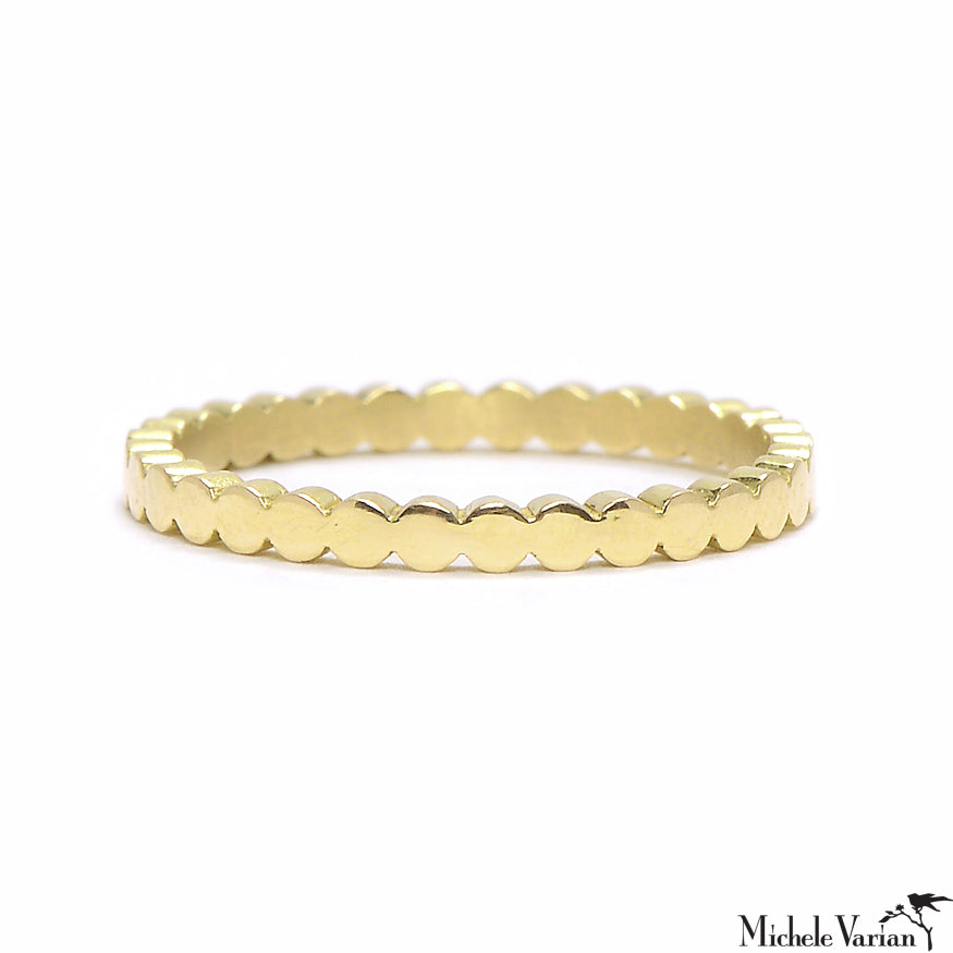 Skinny Petal Gold Eternity Band