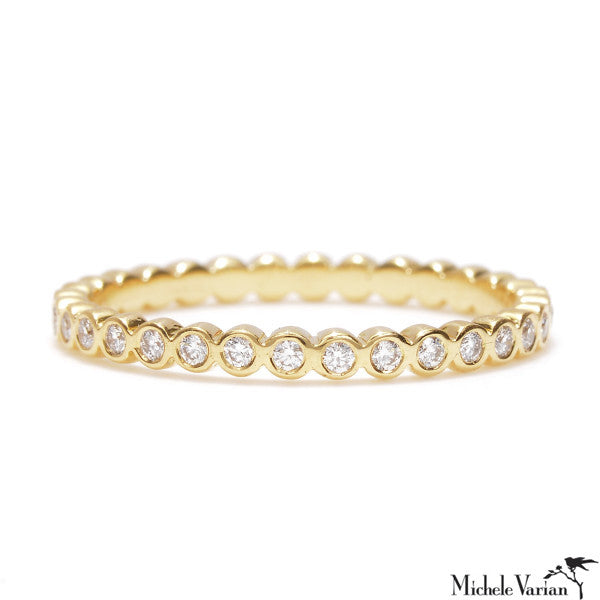 Skinny Petal Diamond Eternity Band