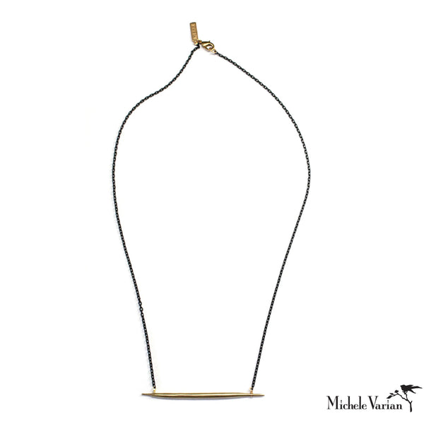 Petite Lateral Quill Necklace